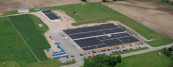 Aerial view of Patz facility